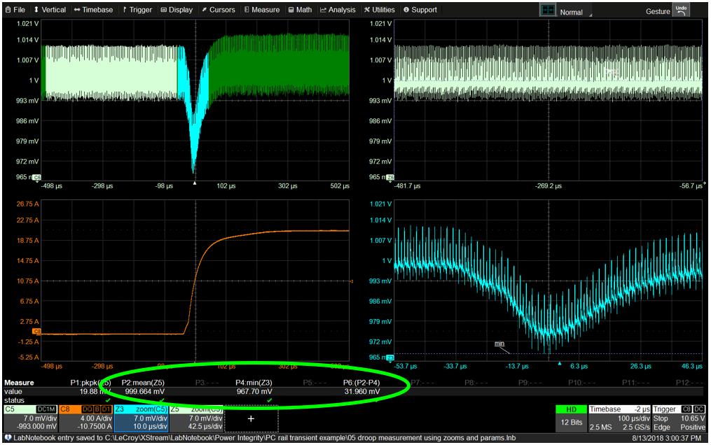Значения параметров в функции растяжки (Zoom), используемые для анализа трех состояний ИУ.